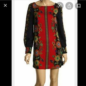 Luck Brand Silk paisley dress small
